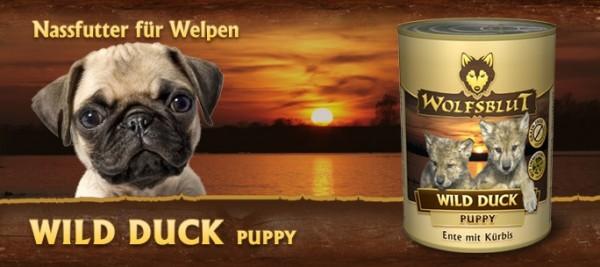 (8,86€/kg) Wolfsblut Wild Duck Puppy 6x395g Dose
