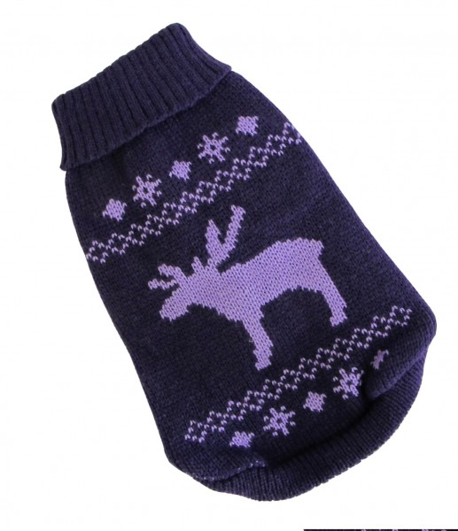 Wolters Elch Mops&Co. Hunde Strickpullover brombeer/lavendel