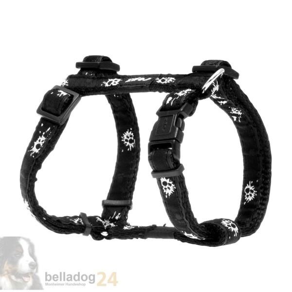Rogz Beltz Geschirr Gr. S schwarz Paint Paw