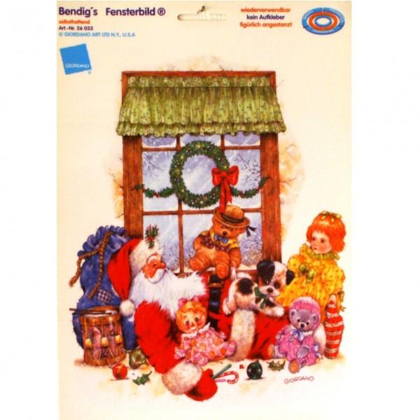 Bendigs Weihnachtsmann schläft zwischen Spielzeug DIN A4