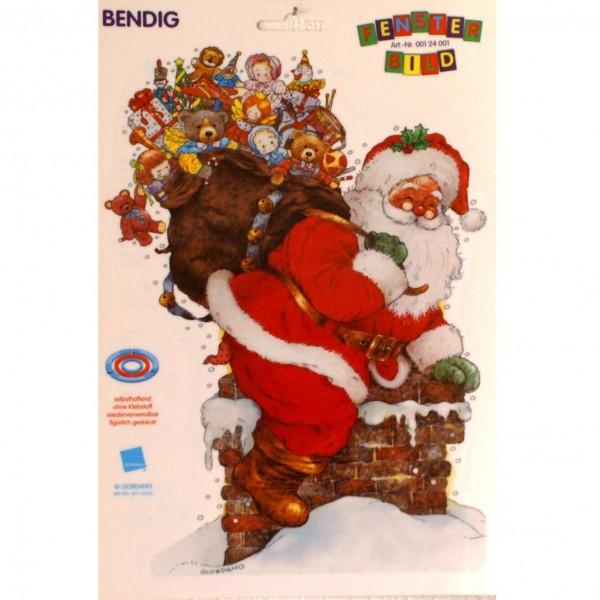 Bendigs Weihnachtsmann kommt durch den Kamin DIN A4