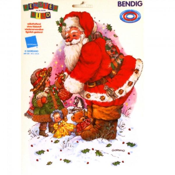 Weihnachtsmann mit einem Kind DIN A4