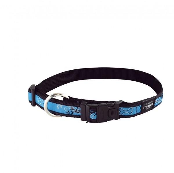 Rogz Beltz Halsband Chrome aqua XL