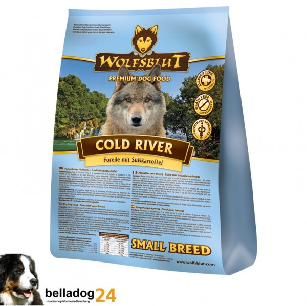 (9,50€/kg) Wolfsblut Cold River 2kg Small Breed