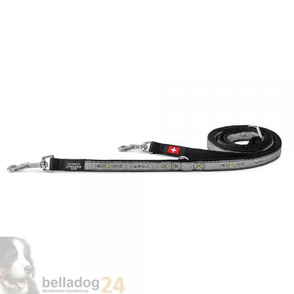 Rogz Beltz verst. Führleine Swiss grau Edelweiß S180cmx12mm