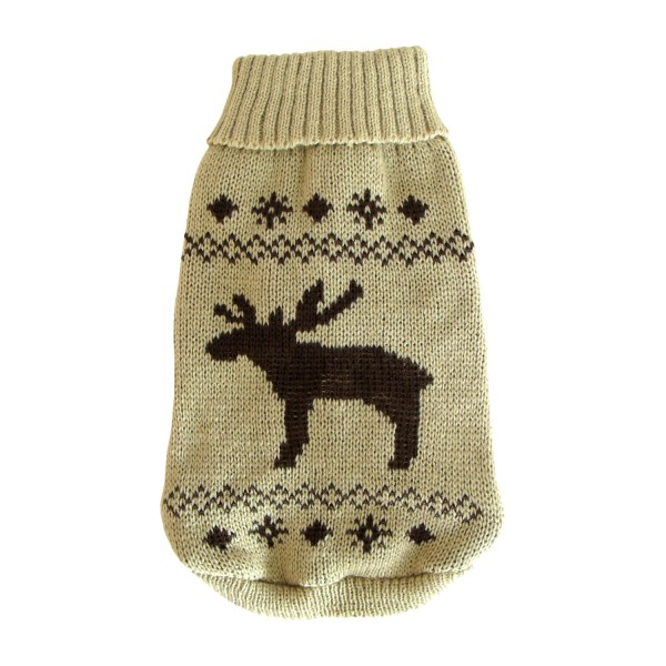 Wolters Norweger Elch Hunde Strickpullover