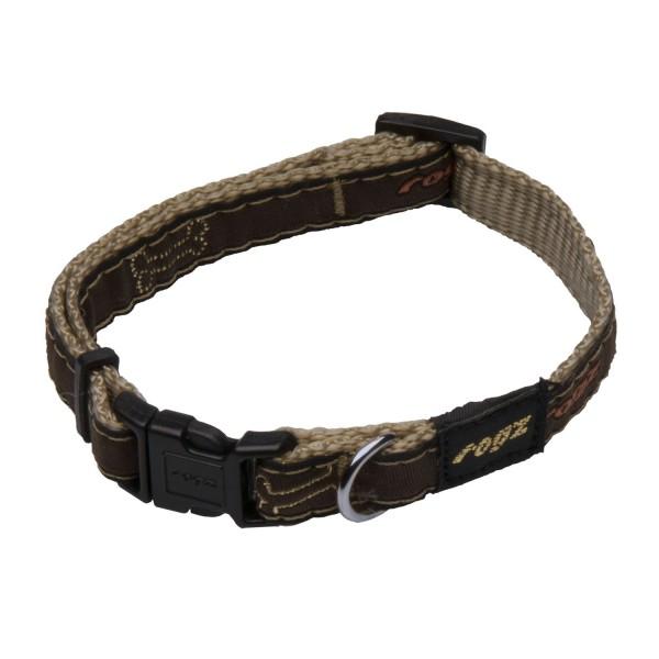 Rogz Beltz Halsband Bronce M
