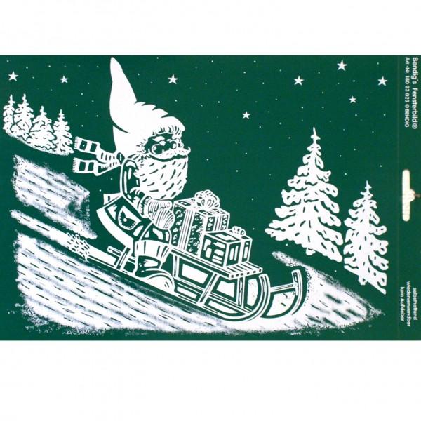 Bendigs Weihnachtsmann mit Schlitten DIN A4 weiß